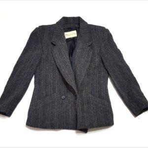 Oscar De La Renta 8 Small Vintage Wool Jacket f6